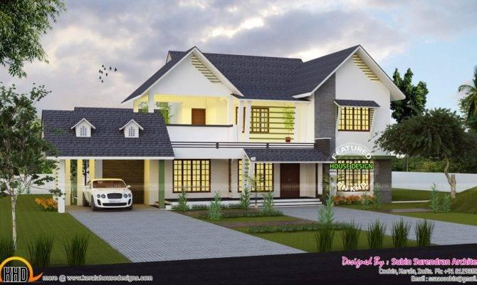 Cute Western Style Home Architecture Kerala Design