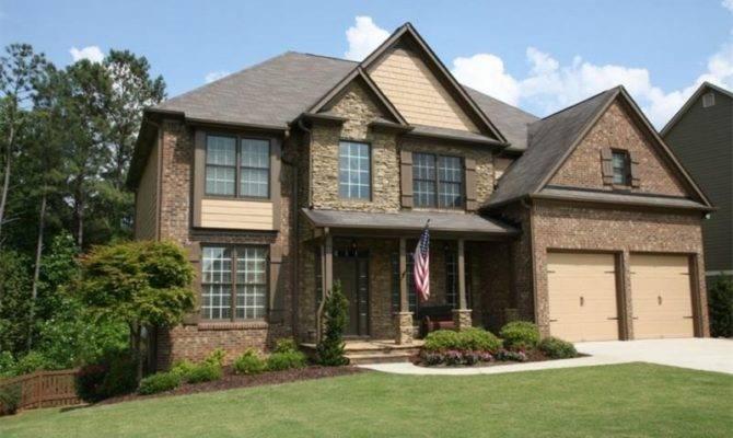Dallas Home Craftsman Style Stone Brick
