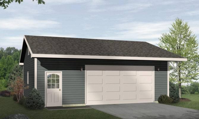 Damani Modern Drive Thru Garage Plan House Plans More