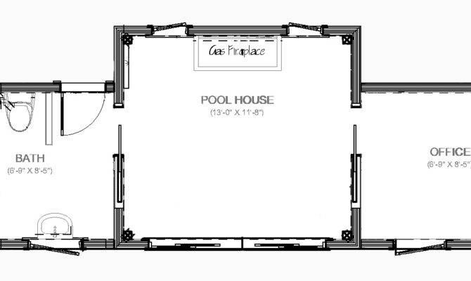 Darien Pool House Plan American Post Beam