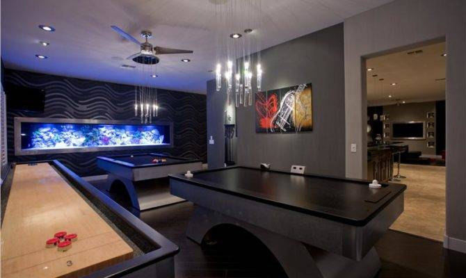 Dark Contemporary Game Room Chris Jovanelly