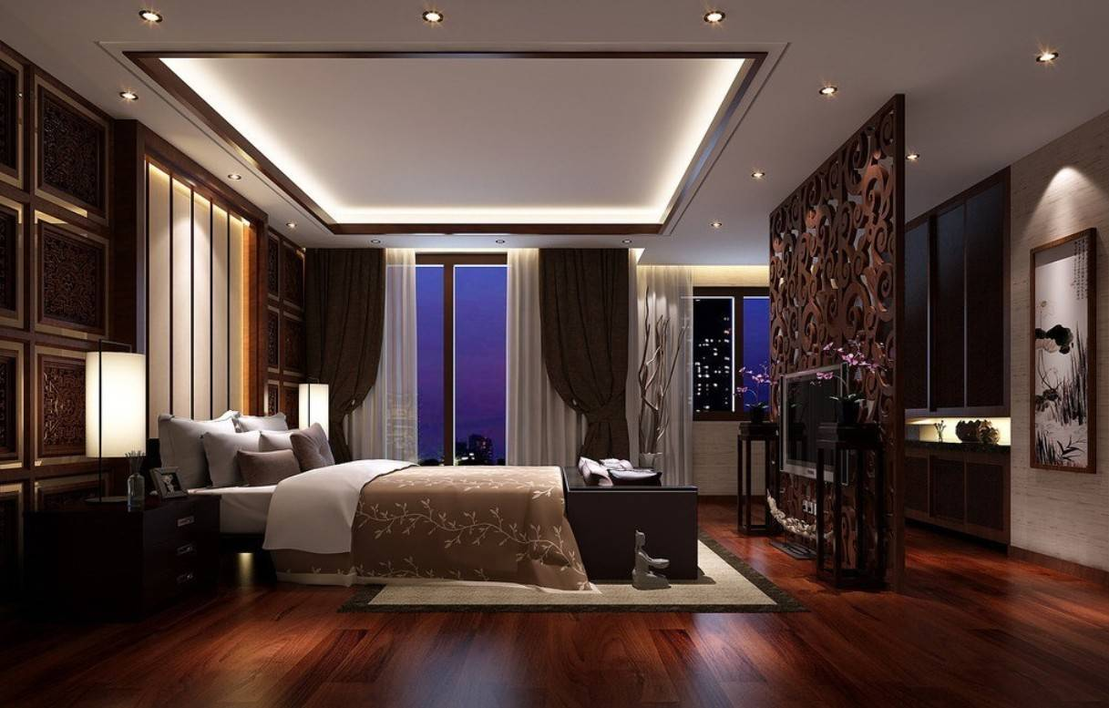 Dark Hardwood Flooring Ideas Bedroom