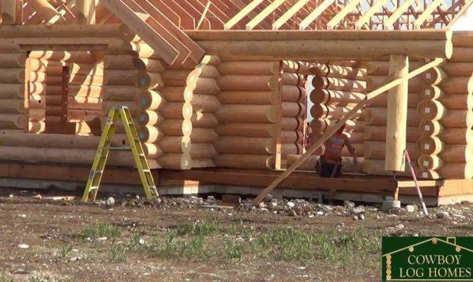 Day Handcrafted Log Home Stack Cowboy Homes