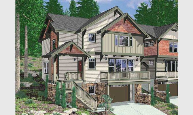 Daylight Basement House Plans Floor Sloping Lots
