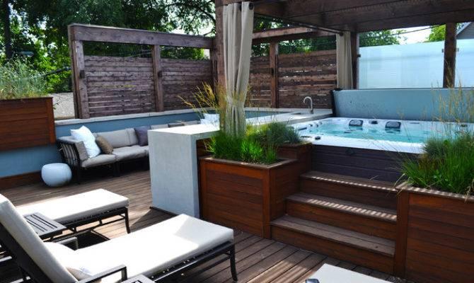 Deck Designs Hot Tubs Pool Design Ideas