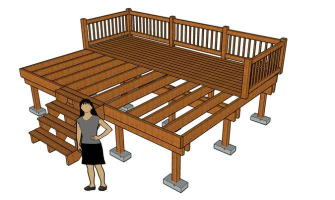 Deck Diagram Showing Footers Posts Joists Wikimedia