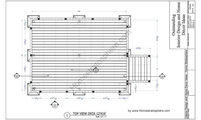 Deck Plan Blueprint Pdf Document