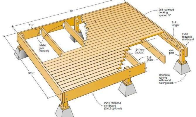 Deck Plans Ideas Diy Home Design