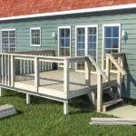 Deck Plans Make White Fence