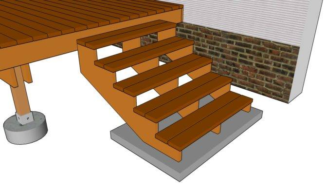 Deck Railing Plans Outdoor Stairs