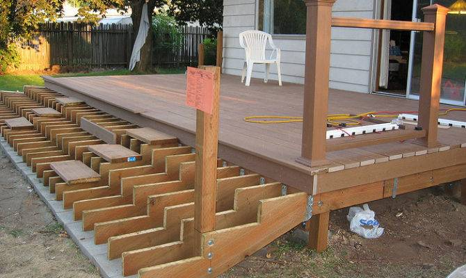 Deck Stairs Stringers Design Ideas