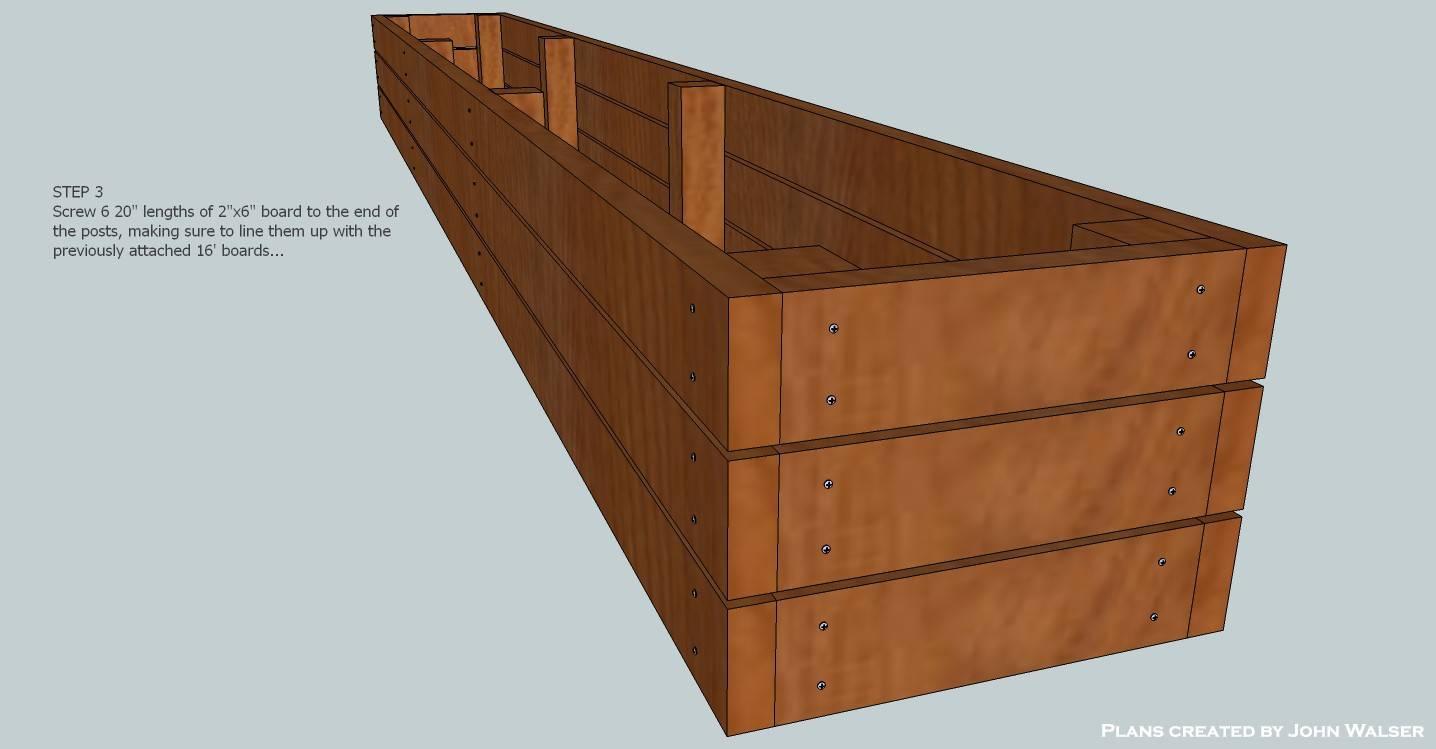 Deck Storage Bench Plans Step