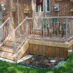 Decks Medium Two Level Back Deck Small Front Porch