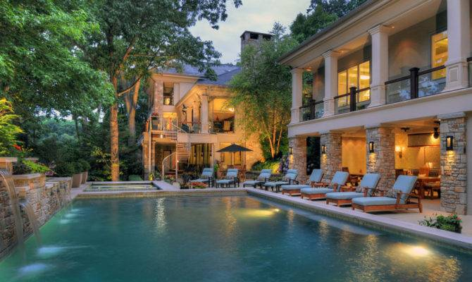 Decoration Mansions Pools Eclectic