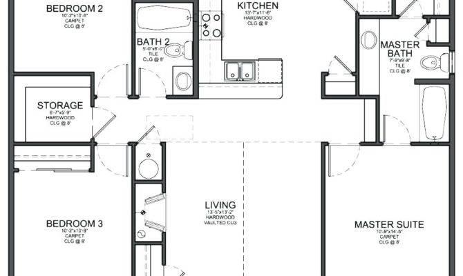 Decoration Simple Bedroom House Plans