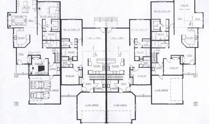 Decorative Luxury Townhouse Plans Building