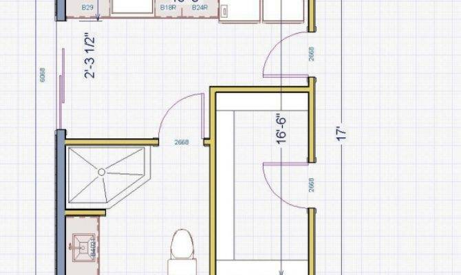Delightful Small Shaped Kitchen Bathroom Floor