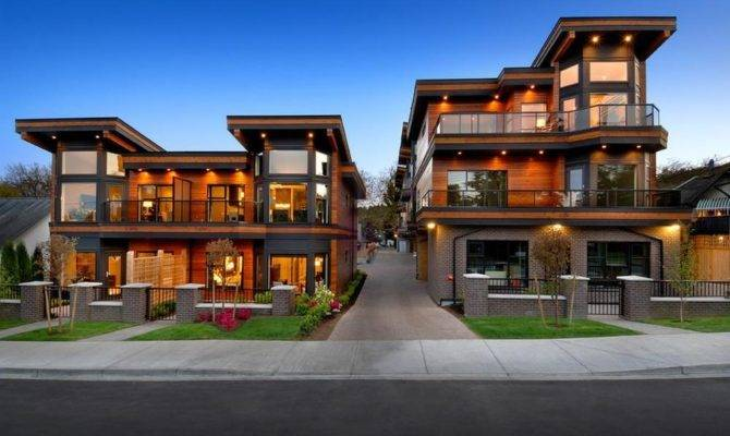 Design Contemporary Wooden House Several Families