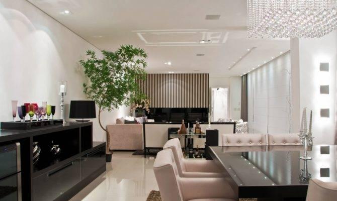 Design Ideas Black White Open Plan Ding Room Living