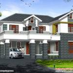 Design Luxury House Sloping Roof Story Home