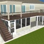 Design Rendering Story Deck Porch Patio Dry