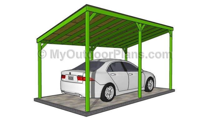 Designs Outdoor Plans Diy Shed Wooden Detached Carport