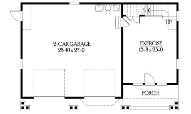 Detached Garage Bonus Space Galore Cad