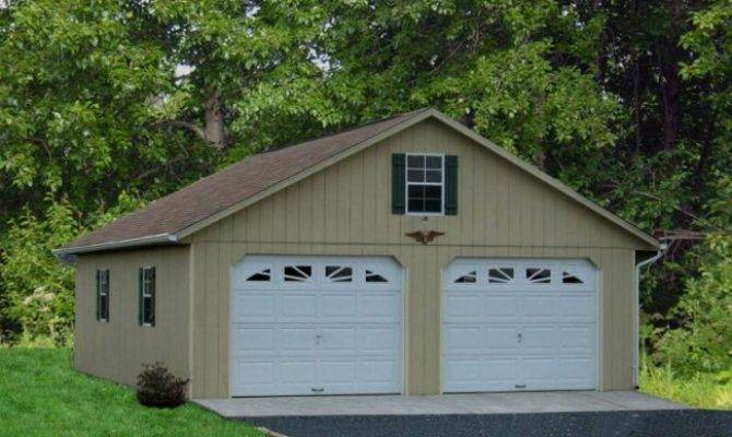 Detached Two Car Garage Prices Amish Pennsylvania