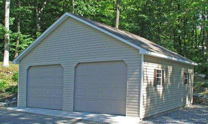Detached Two Car Garages Amish