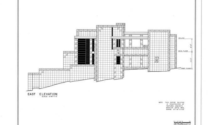 Details Frank Lloyd Wright Freeman House Blueprints