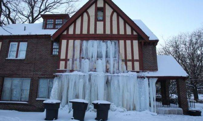 Detroit Home Frozen After Water Pipes Freeze Burst