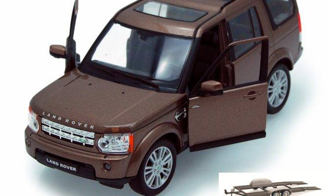 Diecast Car Trailer Package Land Rover Discovery
