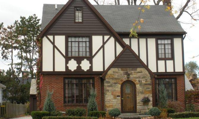 Different But Very Similar Houses Using Tudor Revival Style