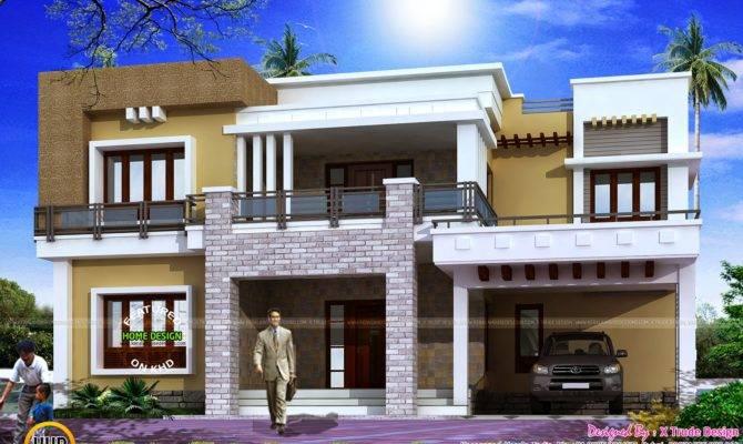 Different Views Modern Home Kerala