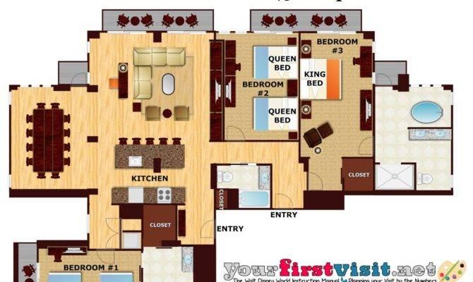 Disney Wilderness Lodge Bedroom Villa Layout