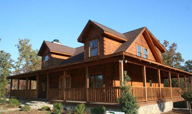 Distinctive Log Cabin Wrap Around Porch Bistrodre