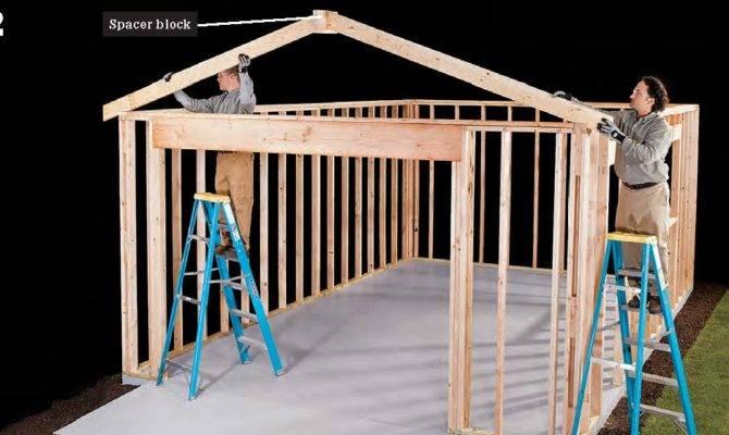 Diy Fyi Step Install Garage Roof Framing