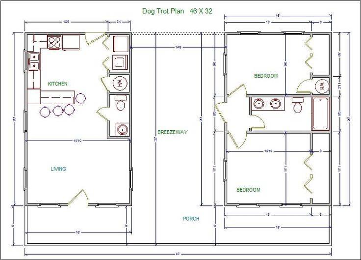 Dogtrot House Floor Plans