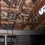 Domestic Hot Water Also Providing Heat Pex Piping Floor Bathroom