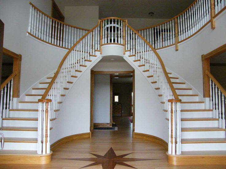 Double Curved Staircase