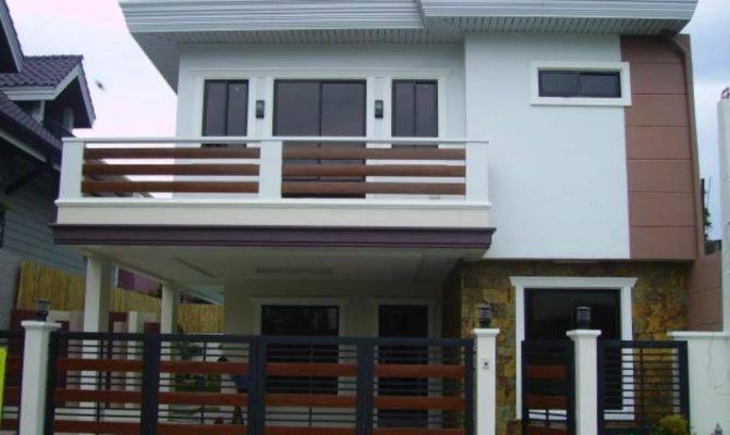 Double Storey Houses Balcony Modern House Plan