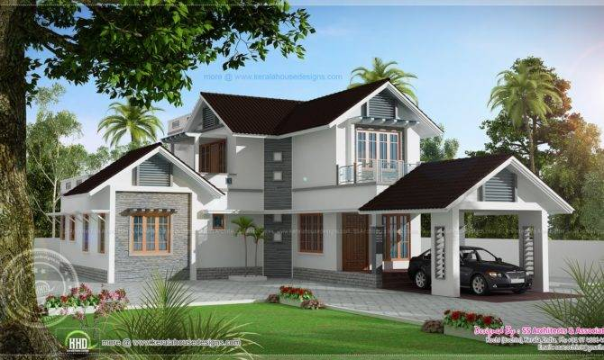 Double Storied Villa Home Kerala Plans