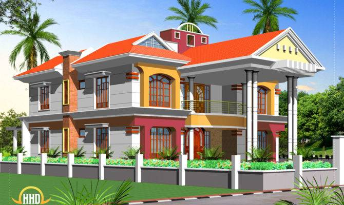 Double Story House Elevation Indian Plans