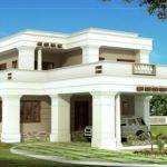 Double Story Square Home Design Kerala