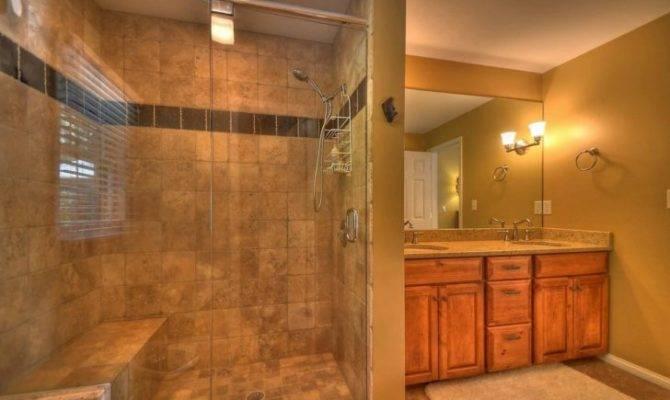 Double Walk Shower Designs Open Bathroom