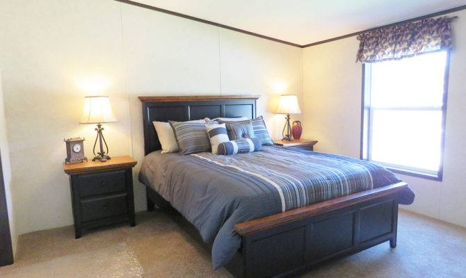 Double Wide Manufactured Home Master Bedroom