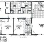 Double Wide Mobile Home Floor Plans Also Bedroom