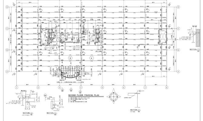 Drawings Second Floor Framing Plan