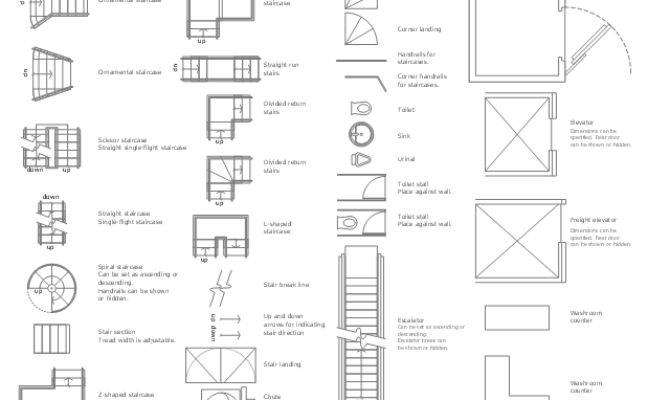 Drawn Stairs Plan Pencil Color