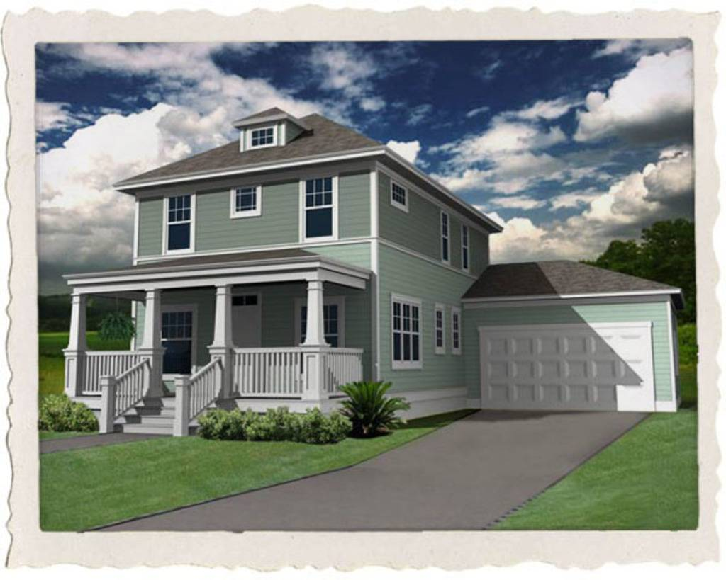 Modern American Foursquare House Plans